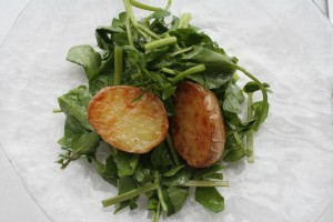 Watercress and warm potato salad